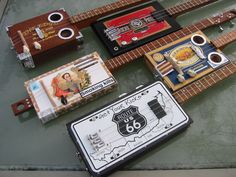 If you like Cigar Box Guitars then Chicken Bone John is king! Baby Slide, Cigar Box Guitar Plans, Music Instruments Diy, Cigar Box Projects, Guitar Diy, Cigar Boxes, Guitar Design, Bar, Cigars