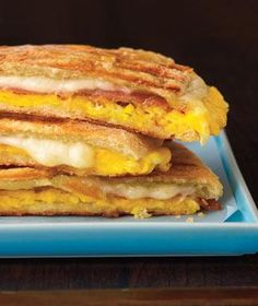 Easy breakfast idea for kids: Prosciutto and Egg Panini (sub in salami, ham, or protein of your choice if your kid doesn't eat prosciutto).