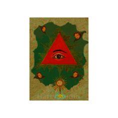 Retablo Ojo de Dios Eye of God  In the Retablo Tradition
