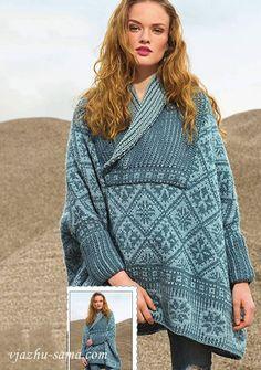 Poncho knitting pattern free