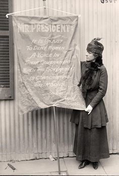 Woman With Suffrage Banner