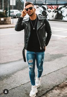 Modern Mens Fashion, Hipster Fashion, Look Fashion, Fashion Outfits, Fashion Tips, Stylish Men, Men Casual, Rock Star Outfit, Real Men Real Style