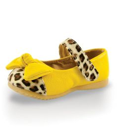 Another great find on #zulily! Yellow & Leopard Beautiful Baby Mary Jane by Twinkie #zulilyfinds