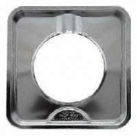 Camco 00373 Square Chrome Gas Drip Pan, 7-3/4-Inch by Camco. $8.16. From the Manufacturer                This 7-3/4-Inch square drip pan for gas ranges offers a great way to help you catch cooking spills. The chrome finish also adds a clean appearance.                                    Product Description                Reflector pans with heavy chrome plating.