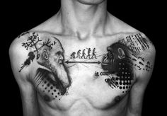 Chest piece done at Brothers In Ink tattoo (Middlesbrough,...