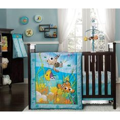 Disney Finding Nemo Crib Bedding Set... Am getting this if I have a boy ;)