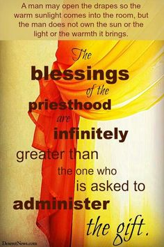 Blessings of the Priesthood
