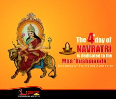 The forth form of mother goddess is gooddess 'Kushmanda', the creator of the entire Universe.