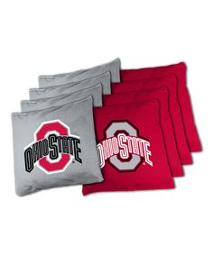 Look at this Ohio State Buckeyes Beanbag Set on #zulily today!