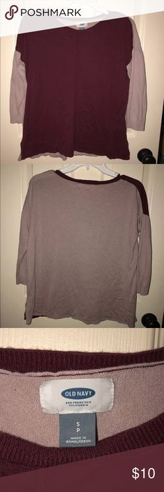 Old Navy Maroon Pink Sweater long sleeve sweater old navy Old Navy Sweaters Crew & Scoop Necks
