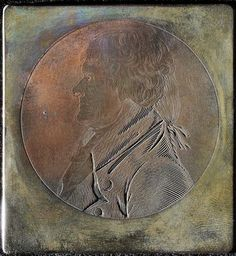 Charles Balthazar's physiognotrace portrait of Thomas Jefferson, copper plate
