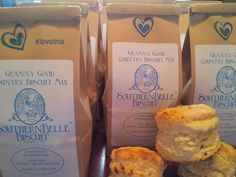 "Southern Belle Biscuit ""Granny Good"" mix..just add two ingredients.  Simple and still homemade."