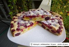 Nagyon gyors gyümölcsös pite Hungarian Desserts, Hungarian Recipes, Fruit Recipes, Pie Recipes, Cooking Recipes, Paleo Sweets, Fall Desserts, Winter Food, Cakes And More