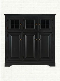 Dining Cabinet With Light In Black