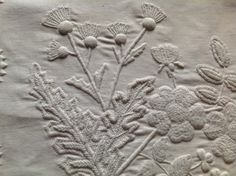 Mountmellick Embroidery takes its name from the Irish Midlands town of Mountmellick, Co Laois where it evolved and was developed in the Century. The simple requirements for the embroidery … Irish Dance, White Embroidery, Needlework, Prints, Thistles, Lace, Roses, Sweet, Embroidery
