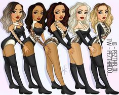 Little Mix Outfits, Little Mix Style, Jesy Nelson, Perrie Edwards, Butterfly Outline, Litte Mix, Bff Drawings, Girl Bands, Female Singers