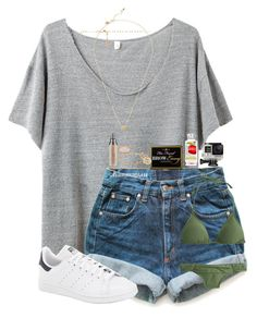 """""""{entry 6}"""" by cora-g77 ❤ liked on Polyvore featuring R13, Kate Spade, Levi's, adidas, Kendra Scott, Alison & Ivy, Urban Decay, GoPro, J.Crew and vbkobxcontest2k16"""