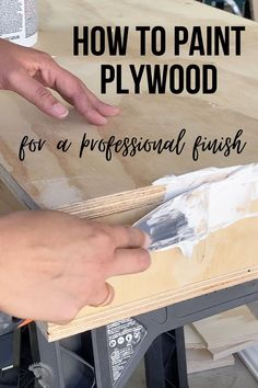 Learn how to paint plywood for a smooth professional look using a simple trick that makes all the difference! #AnikasDIYLife #furniturepainting #paintingtips Ikea Furniture, Furniture Makeover, Painted Furniture, Professional Look, Learn To Paint, Ikea Hack, Painting Tips, Plywood, Thrifting