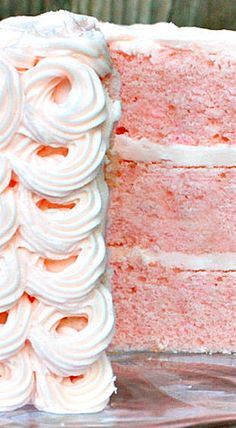 Pink Champagne Cake with Pink Champagne Buttercream