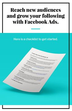 Ready to reach new audiences on Facebook? Take the first step today with our downloadable checklist. #emailmarketing