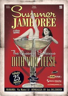 Dita Von Teese ... Summer Jamboree 2007 ... in the rockin town of Senigallia (Italy) ... Official Event Poster