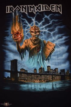 Book of Souls New York Event Shirt 2016 2016 Book of Souls New York Event t-shirt from NoahM Hard Rock, Heavy Metal Art, Heavy Metal Bands, Woodstock, Iron Maiden Albums, Iron Maiden Posters, Rock Band Posters, Metal Artwork, Skull Artwork