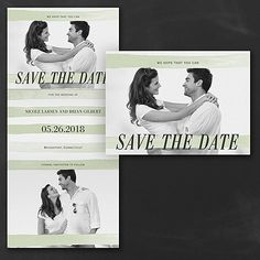 Watercolor Stripes - Photo Save the Date    |  40% OFF  |  http://mediaplus.carlsoncraft.com/Wedding/Save-the-Dates/3254-TWS37214-Watercolor-Stripes--Photo-Save-the-Date.pro