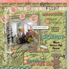"Creo by Lady Katutz: ""Catch of the Day"" LO for Crescent Moon Designs"