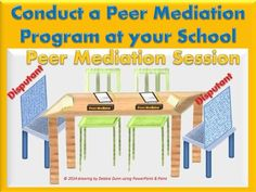 How to conduct a Peer Mediation program in your school