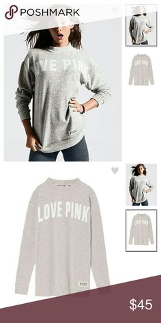 PINK VS OVERSIZED STADIUM MOCK NECK PULLOVER Super cozy material.... Tunic length..... SOLD OUT! Color is snow white...Worn twice and washed and air dried.... In great condition...Feel free to ask any questions.... ✅Make an offer through OFFER button ONLY ✅Negotiations welcome ❌No trades ❌No PayPal ✴Bundles encouraged✴ PINK Victoria's Secret Sweaters