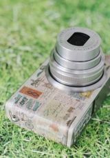 washi tape covered camera