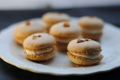 Macarons with coffee and cream