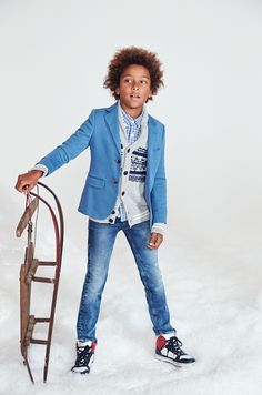 He'll be stealing hearts these holidays - and not just Grandma's... Have some fun with Tommy Hilfiger's holiday looks for kids