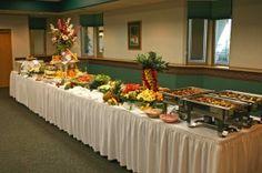Hawaiian Table Centerpieces | Hawaiian Buffet Table | Hawaiian Decorations