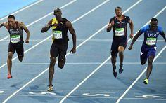 Bolt, al final de los 100m.
