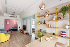 Decoración a todo color: jugando con los tonos pastel. Apartamento en Kaohsiung (Taiwán) proyectado por House Design Studio