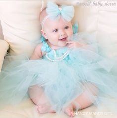 Tiffany blue cute baby