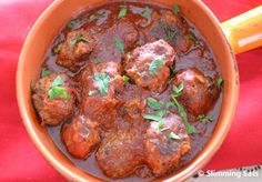 Meatballs in Tomato-Maple Sauce | Slimming Eats - Slimming World Recipes