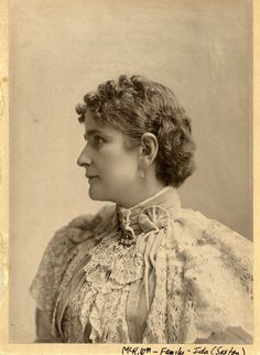 First Lady Ida McKinley was married to the 25th president, William McKinley.