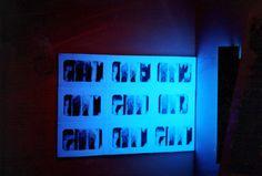 prints on canvas, aquaforte on X-ray film, UW lighting, 1996