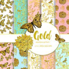 seamless patterns. gold patternsdesigner paper a от MitrushovaArt