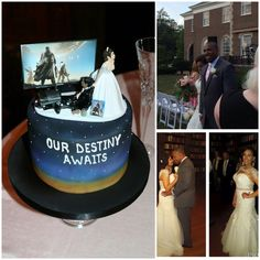Sweet touch by my new bride: groom's cake inspired by my favorite video game, Destiny! @Bungie @DestinyTheGame