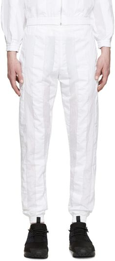 Cottweiler - White Striped Robe Lounge Pants