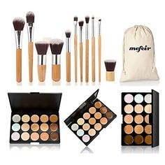 Best Makeup Brush Set | Mefeir makeup brushes professional 11 pcs brush set kit pincel maquiagem maquillaje brush set 15 Colors Concealer *** Click image to review more details.(It is Amazon affiliate link) #followforfollow