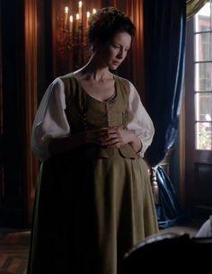 """Claire Fraser (Caitriona Balfe) in Episode 206 """"Best Laid Schemes"""" of Outlander Season Two on Starz"""