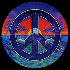 ☮ American Hippie Art ~ Peace Sign .. Ocean