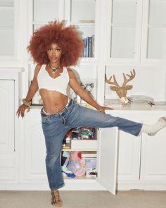 Black Girl Magic, Black Girls, Sza Singer, Curly Hair Styles, Natural Hair Styles, Black Girl Aesthetic, Black Barbie, Ginger Hair, Celebrity Look