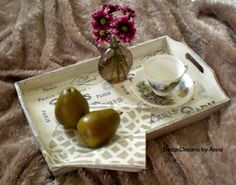 DesignDreams by Anne: Adding French Flavour to a Wood Tray
