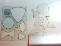 Templates from shrink plastic