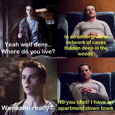 Their little conversations make up for the lack of Sterek interaction lately. :)